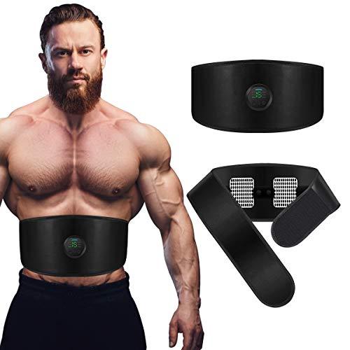 ABS Toning Training Belt,Muscle Toning Waist Trimmer Equipment Abdominal for Men & Women, Abs Fitness Belt Work Out Power Abs Muscle Training Gear