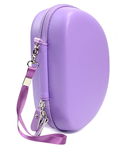 Ultra Violet Protective Case for Beats Solo 3 Wireless On-Ear Headphones, Also for Solo 2 Wired and Solo HD, Featured in Matching Color and Shape, Accessories Pocket, Detachable Wrist Strap