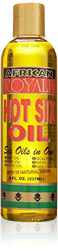 African Royale Hot Six Hair Oil, 8 oz (Pack of 8)