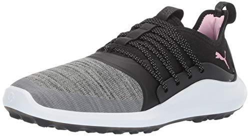 Puma Golf Women's Ignite Nxt Solelace Golf Shoe, Puma Black-Metallic Pink, 7.5 M US