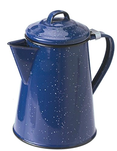 GSI Outdoors 8 Cup Coffee Pot for Storing Hot Coffee, Tea and Water While Camping, Blue