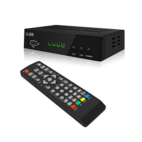 Analog to Digital TV Converter Box - UBISHENG U-008 Set-Top Box for HDTV 1080P ATSC TV Decoder with TV Tuner, Time Shift, EPG, PVR Recording, Playback, Media Player, Digital Clock, Timer, Freeview