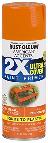 Rust-Oleum 327873-6 PK American Accents Spray Paint, Gloss Real Orange