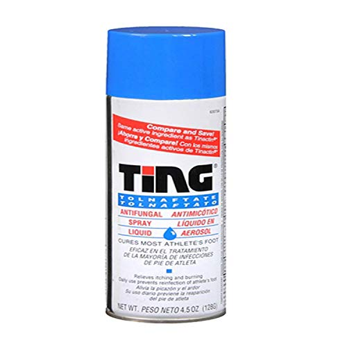 Ting Antifungal Spray Liquid Cures Most Athlete's Foot 4.5 Oz