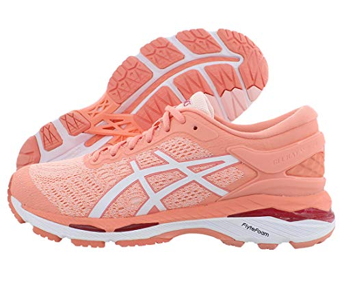 ASICS Gel-Kayano 24 Women's Running Shoe, Seashell Pink/White/Begonia Pink, 8.5 M US