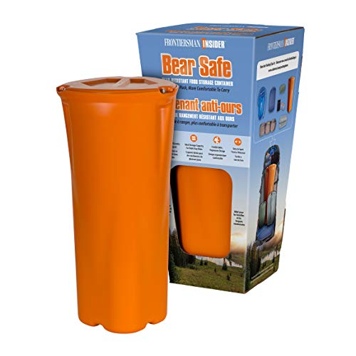 FRONTIERSMAN Bear Canister for Backpacking & Hiking - INSIDER BEAR SAFE: Lightweight Bear Proof Container, Slim Design for Easier Packing & More Comfortable to Carry with High Capacity Food Storage
