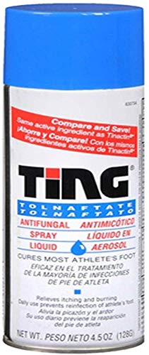 Ting Antifungal Spray Liquid Cures Most Athlete's Foot 4.5 Oz (Pack of 6)