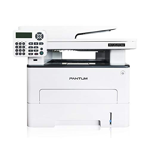 Pantum M7202FDW All-in-One Laser Printer Copier Scanner Fax, High Print and Copy Speed, Auto-duplex Printing, with Wireless, Ethernet & USB Capabilities (V2W81B)