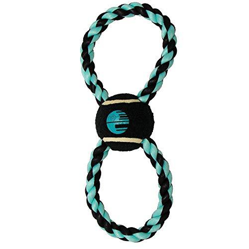 Buckle-Down Dog Toy, Rope Tennis Ball Star Wars Death Star Black Aqua Blue