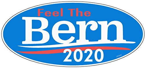 Bumper Planet - Oval Bumper Sticker - Feel The Bern' - Bernie Sanders 2020 Election Campaign - 3.5 x 7.5 inch - Vinyl Decal Professionally Made in USA