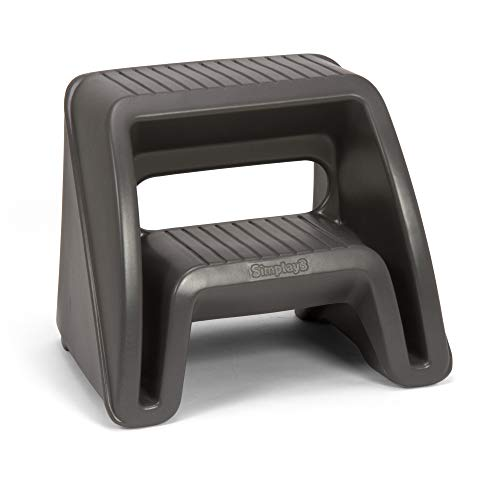 Simplay3 Handy Home 2-Step Plastic Stool 16 in. - Gray