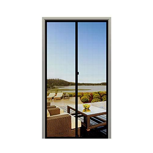 MAGZO Screen Door Magnets Fit Door Size 32 x 80, Durable Fiberglass Door Mesh with Full Frame Hook&Loop for Patio Door-Black
