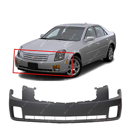 BUMPERS THAT DELIVER - Primered, Front Bumper Cover Fascia for 2003 2004 2005 2006 2007 Cadillac CTS 03-07, GM1000656