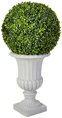 Nearly Natural 5965 2.5†Boxwood Topiary with Urn (Indoor/Outdoor),Green