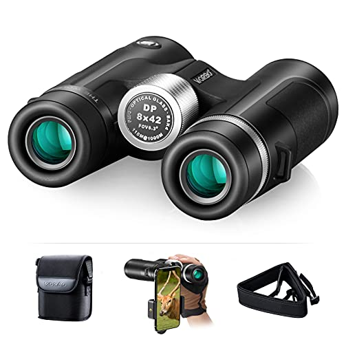Expotheworld Metal Edition Wide-Angle Binoculars for Adults Professional Bak4-Prism Waterproof Smart Phone Adaptation Hunting Bird Watchi Watching Outdoor Sports Games and Concerts