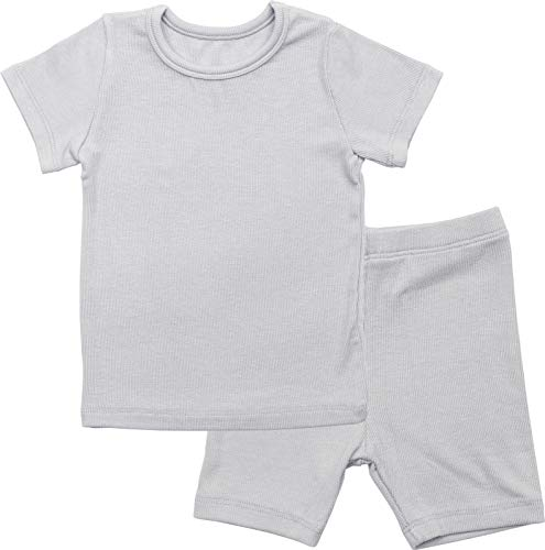 AVAUMA Newborn Baby Little Boys Snug-Fit Pajamas Summer Short Sets Pjs Kids Clothes (XL/Gray)