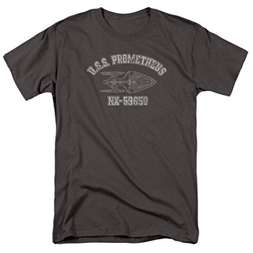 Star Trek: Voyager U.S.S. Promethius Athletic T Shirt & Stickers (XX-Large) Charcoal