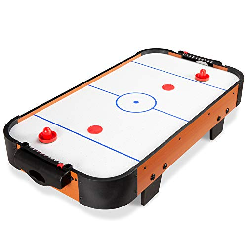 Best Choice Products 40in Portable Tabletop Air Hockey Arcade Table for Game Room, Living Room w/ 100V Motor, Powerful Electric Fan, 2 Blowers, 2 Strikers, 2 Pucks