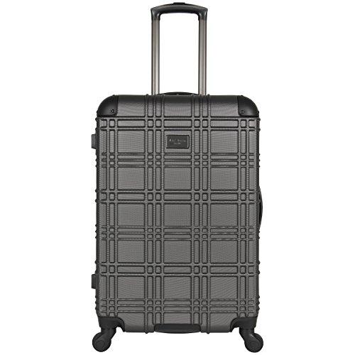 Ben Sherman Nottingham Lightweight Hardside 4-Wheel Spinner Travel Luggage, Charcoal, 24-inch Checked