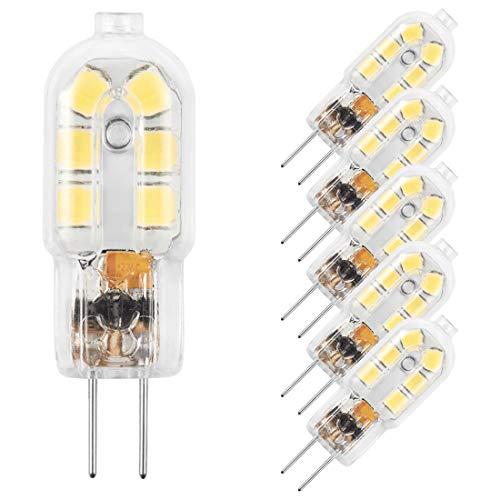 AMAZING POWER G4 LED Bulb, 12V JC Bi Pin Bulb, 20W Halogen Bulb Replacement, Daylight White 6000K, 5-Pack