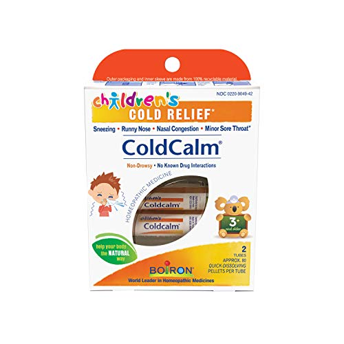 Boiron Children's Coldcalm, 2 Count (80 Pellets per Pack), Homeopathic Medicine for Cold Relief
