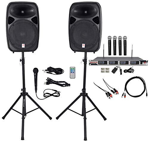 Rockville Dual 15' iphone/ipad/Android/Laptop,TV Youtube Karaoke Machine/System