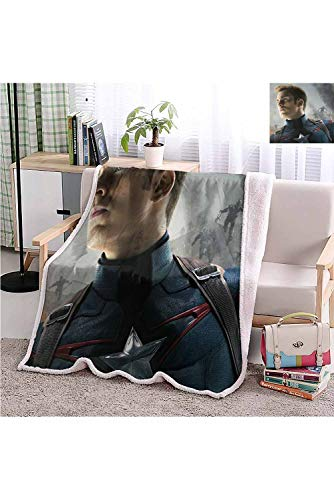 Yloveme Baby Small Fleece Blanket Throw Captain America in Avengers Age of Ultron Double-Sided Super Soft Plush Blanket Throw 32x60 inches