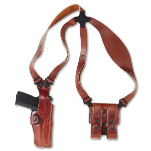 Galco Vertical Shoulder Holster System for 1911 5-Inch Colt, Kimber, para, Springfield (Tan, Ambi)
