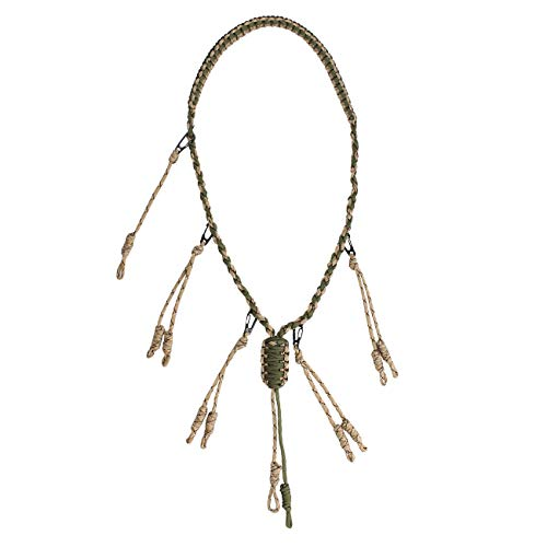 Yolyoo Duck Call Lanyard with Removable Drops 550 Paracord Hand Braided Secures 5 Calls Military Grade Adjustable Loops for Hunting Goose,Varmint, Predator, Deer or Duck Calls