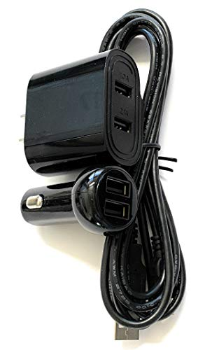 Home Wall USB AC Power Adapter/Charger and CAR USB DC Power Adapter/Charger Kit for Zoom Q2HD Handy Video Recorder