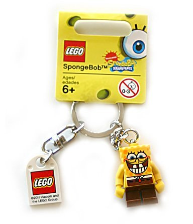 Lego SpongeBob Sponge Bob Square Pants (new version) Key Chain 853 297 (japan import)
