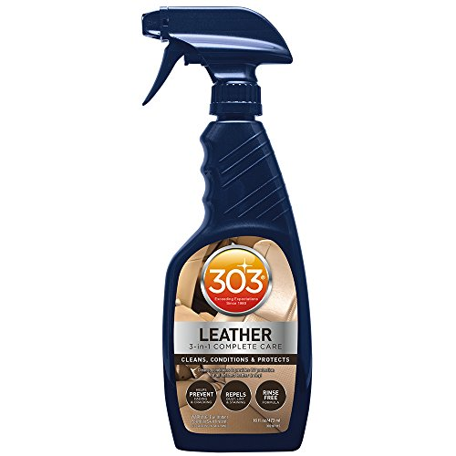 303 (30218) Leather 3 - In - 1 Complete Care - Cleans, Conditions, And Protects, Helps Prevent Fading And Cracking - Rinse Free Formula - Repels Dust, Lint, And Staining, 16 fl. oz.