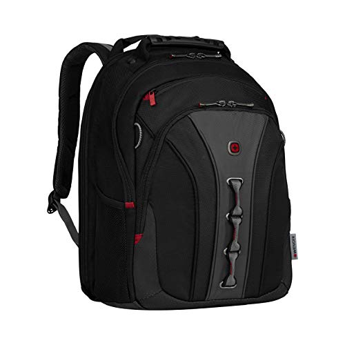 Wenger 600631 The Legacy Notebook Carrying Backpack, 16', Black/Gray (WA-7329-14F00)