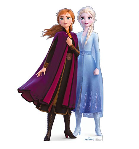 Advanced Graphics Anna & Elsa Life Size Cardboard Cutout Standup - Disney's Frozen II (2019 Film)