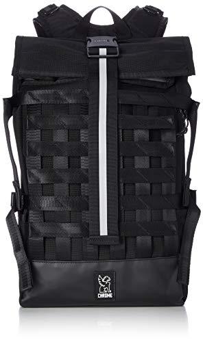Chrome Industries Barrage Cargo Roll Top Backpack - Waterproof 15 Inch Laptop Bag, Black, 22 Liter