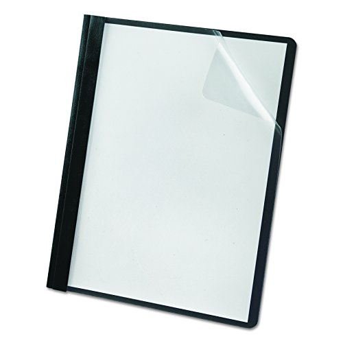 Oxford Premium Clear Front Report Covers, Black, Letter Size, 25 per box (58806EE)