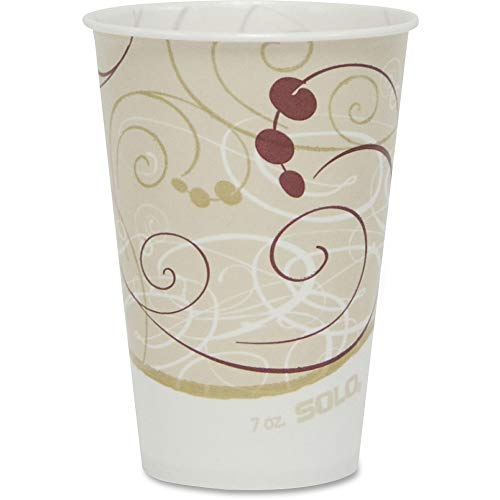 Solo R7N-J8000 7 oz Symphany Waxed Paper Cold Cup (Case of 2000)
