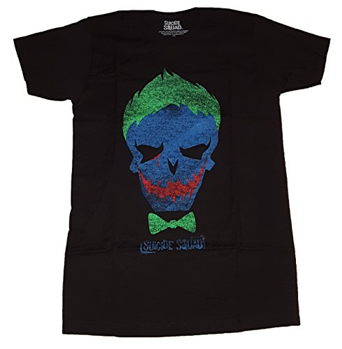 DC Comics Suicide Squad Joker Skull Graphic T-Shirt, Black, Large