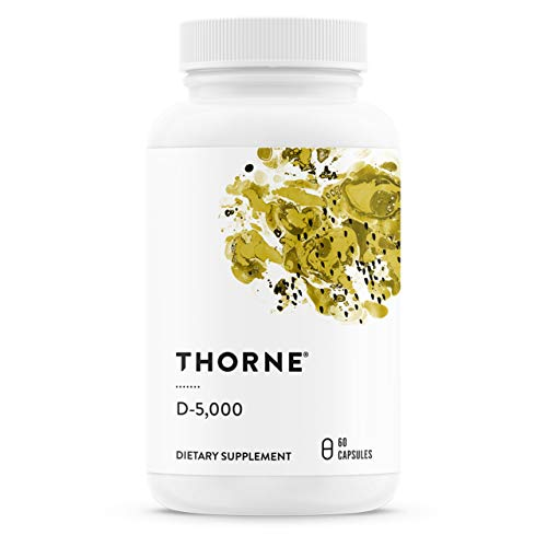Thorne Research - Vitamin D-5000 - Vitamin D3 Supplement (5,000 IU) for Healthy Bones and Muscles - 60 Capsules