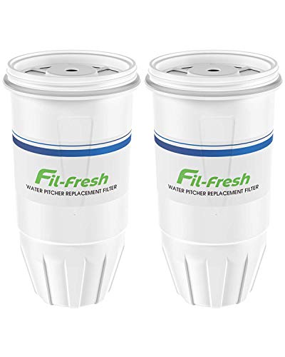 Fil-fresh ZR-017 Replacement Filters Compatible with ZeroWater Pitchers and Dispensers, ZR-017 Replacement Water Filters, 2-Packs, BPA-Free