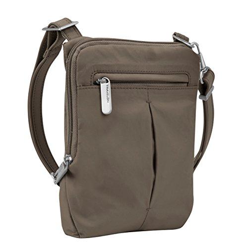 Travelon Anti-Theft Classic Light Mini Crossbody Bag, Mocha