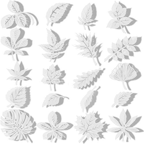 20 Pieces Large Size Anti-Collision Window Clings Assorted Leaf Shapes Stickers Transparent Alert Bird Window Decal Prevent People and Bird Strikes on Window Glass