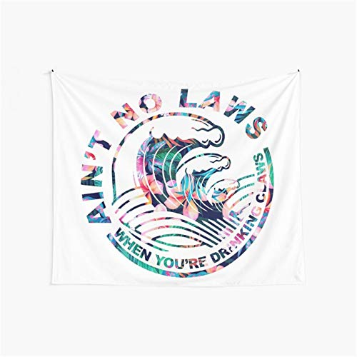 CuYatry Ain't No Laws When You're Drinking Claws Boutique Tapestry Wall Hanging Tapestry Vintage Tapestry Wall Tapestry Micro Fiber Peach Home Decor 59.1X51.2 in