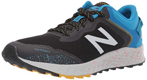 New Balance Men's Fresh Foam Arishi V1 Trail Running Shoe, Black/Vision Blue, 12 M US