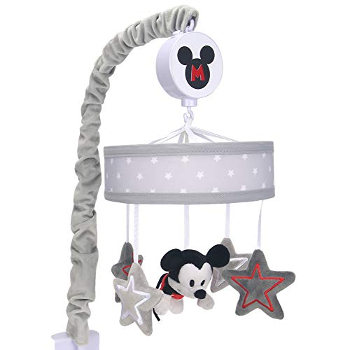 Lambs & Ivy Disney Baby Magical Mickey Mouse Musical Baby Crib Mobile - Gray