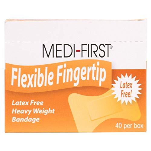 Small Flexible Fabric Bandaid, Adhesive Fingertip Bandages, 40 Pack
