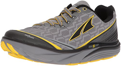 Altra Torin IQ Men's Road Running Shoe, Gray/Yellow, 8