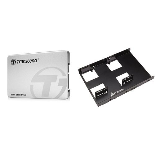 Transcend 512GB MLC SATA III 6Gb/s 2.5' Solid State Drive 370 (TS512GSSD370S) & Corsair Dual SSD Mounting Bracket 3.5'Bundle