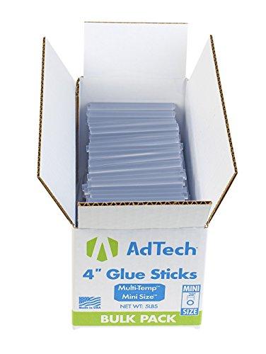 AdTech 220-345-5 Hot Glue Sticks 4 Inch Mini Size, Net Weight - 5 lbs
