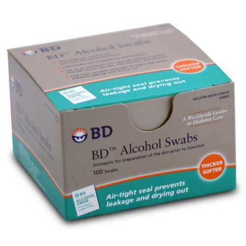 Becton Dickinson 326895 Alcohol Swabs, Soft, Non-Sterile (Case of 1200)